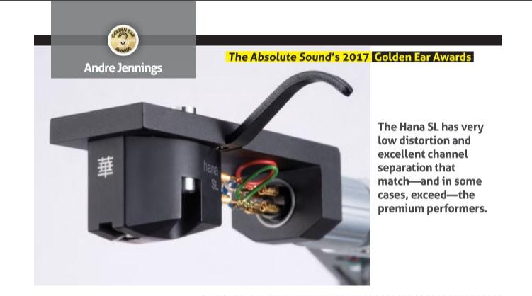 Hana SL Cápsula Giradiscos Absolute Sound Golden Ear Award 2017